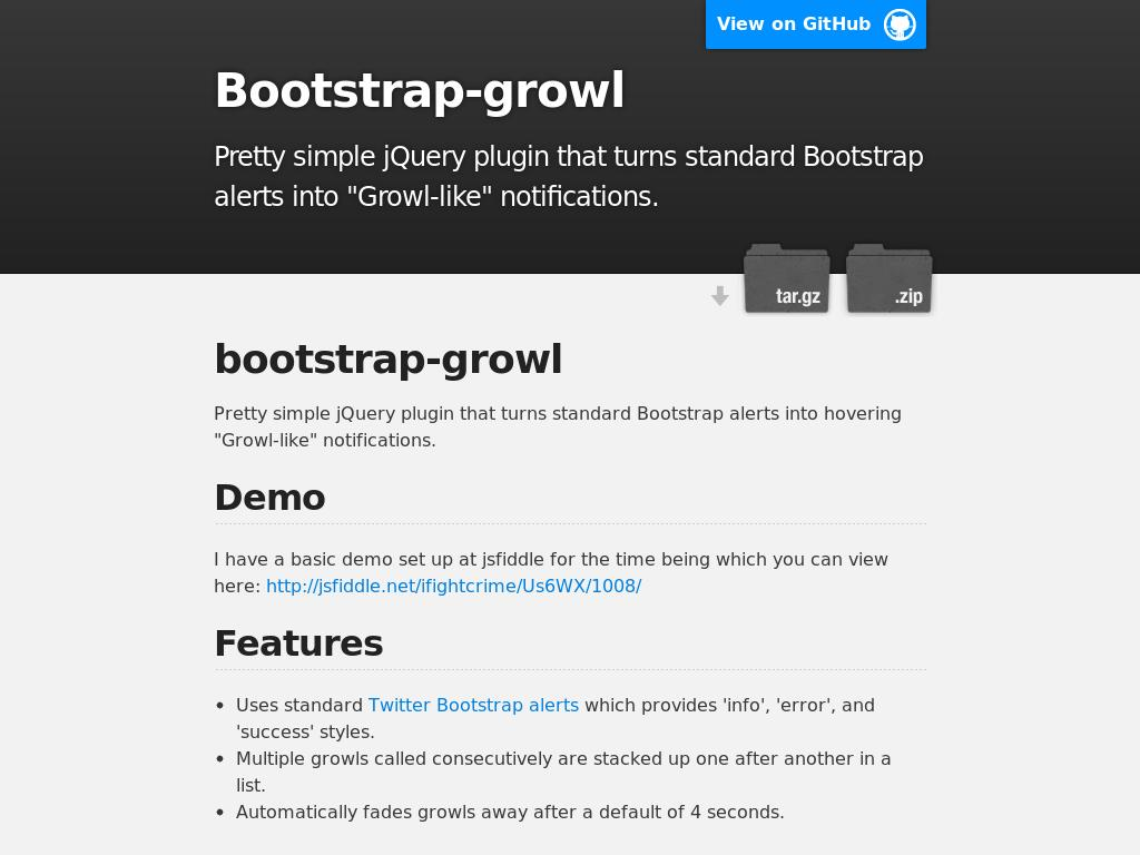 Bootstrap-growl