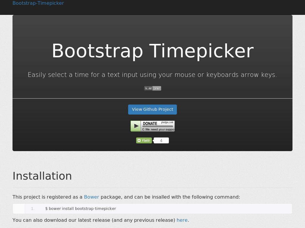 Bootstrap Timepicker
