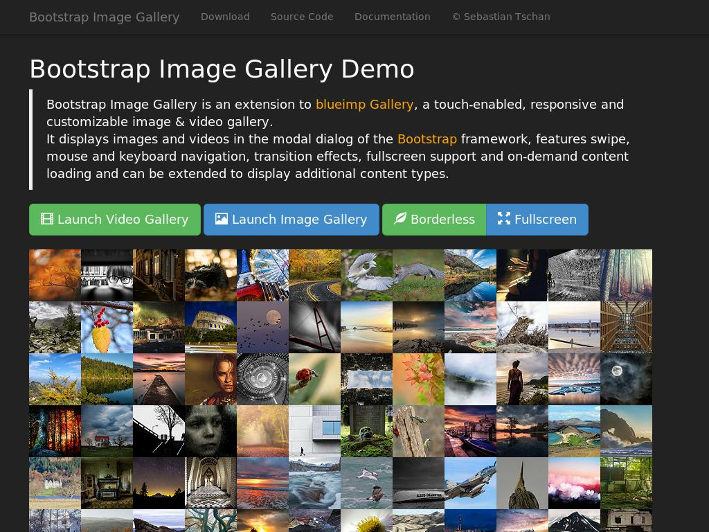 Bootstrap-Image-Gallery - Улучшение