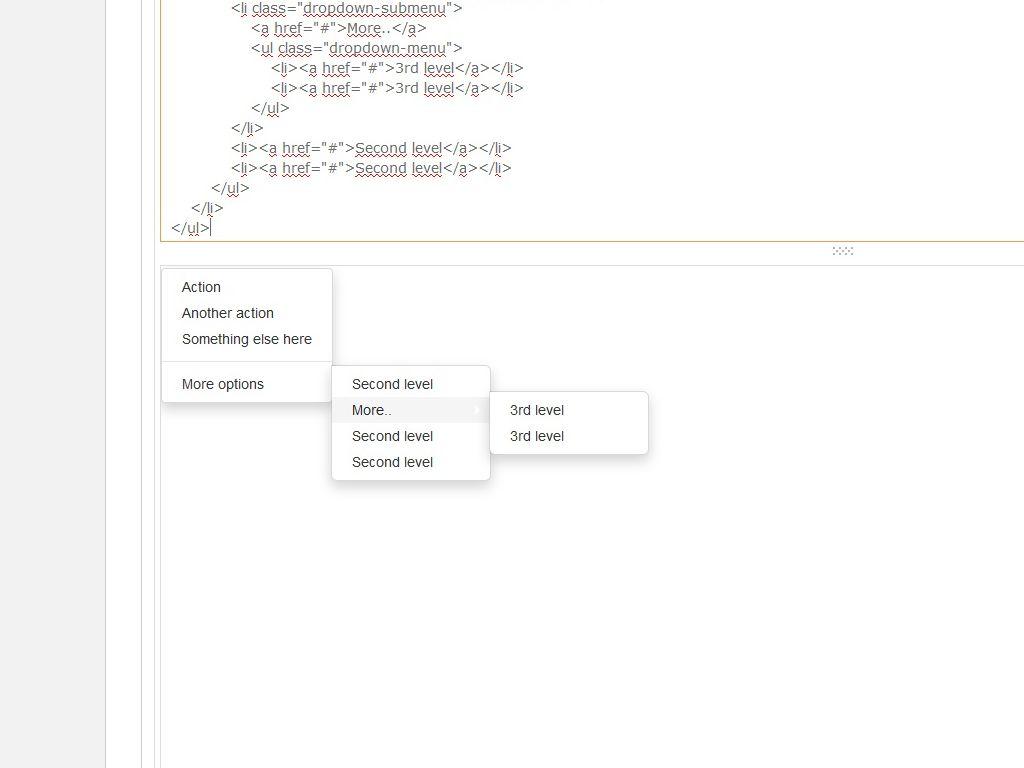Вертикальное выпадающее меню 3 уровня / Меню / Сниппеты Bootstrap