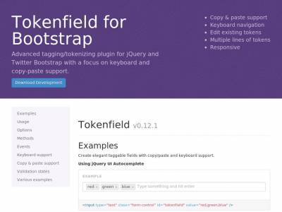Tokenfield for Bootstrap