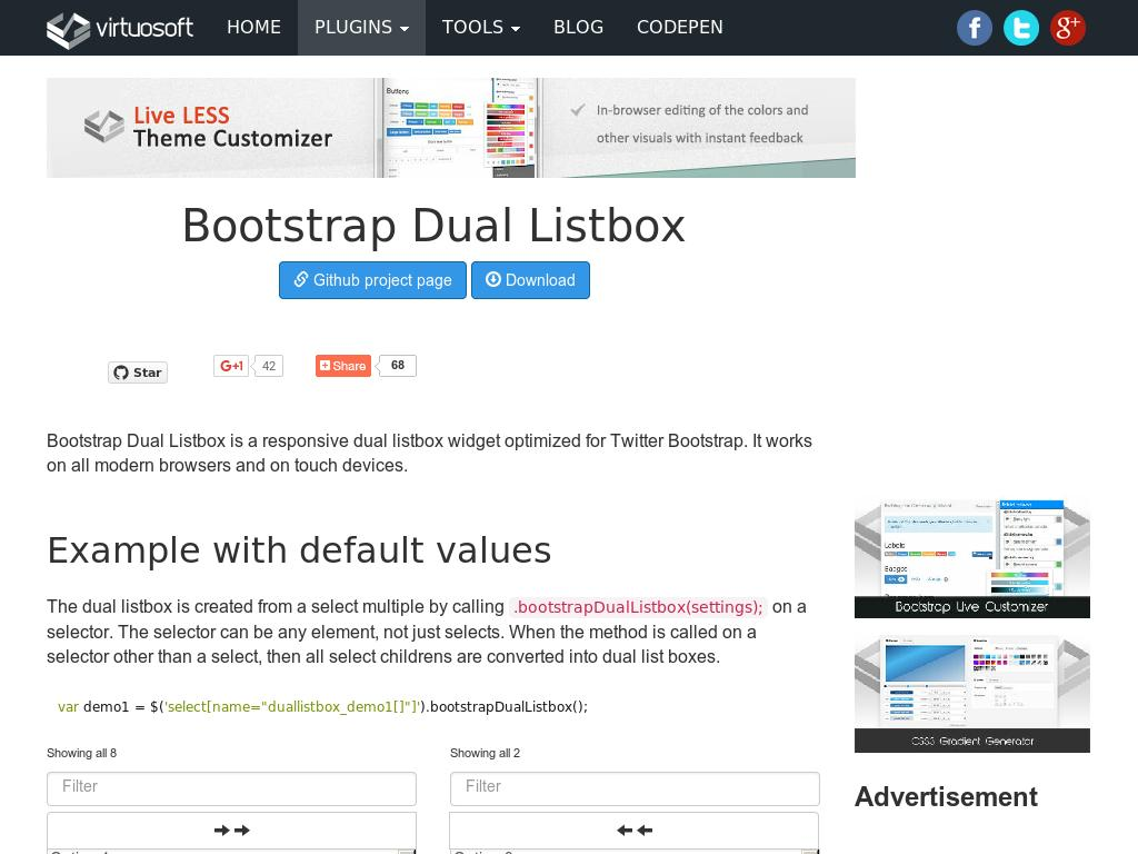 Bootstrap Dual Listbox