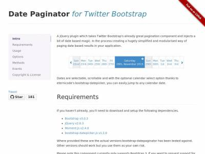 Bootstrap Date Paginator