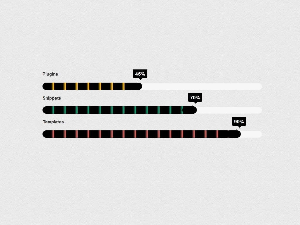 Striped progress bar