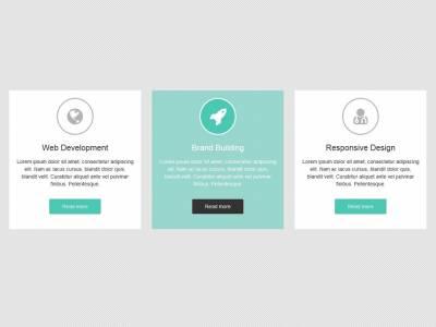 3 Сервисных блока для Bootstrap 3