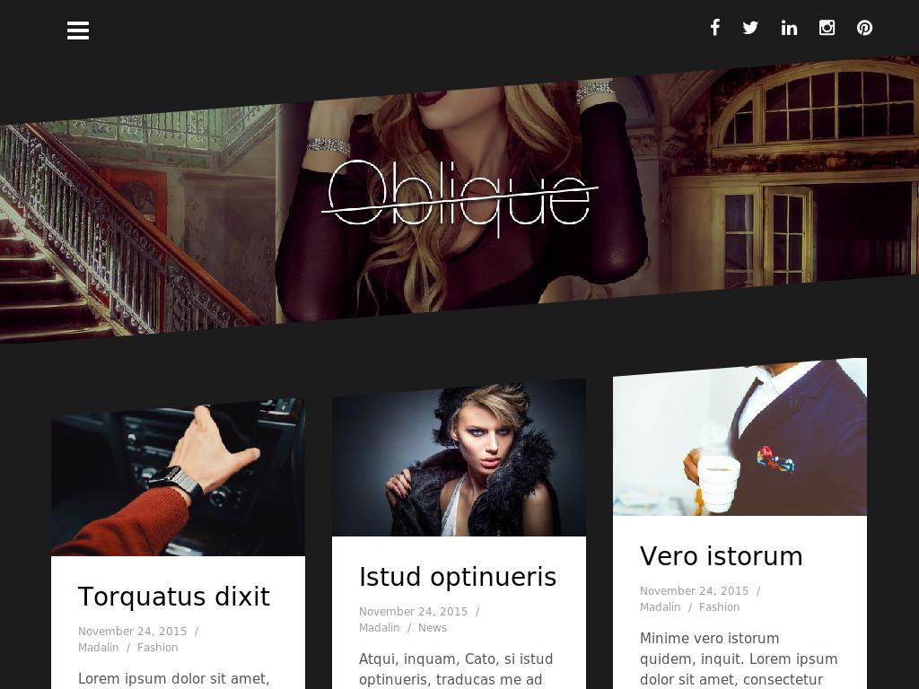 Oblique - WordPress - Блог