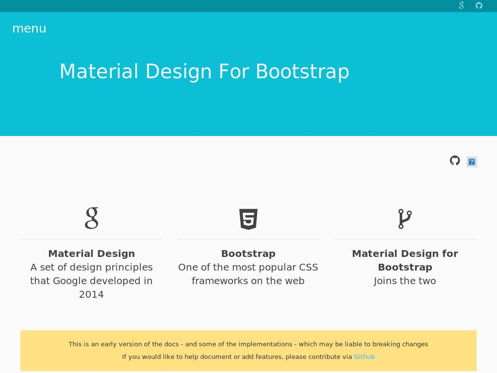 SASS Material Design for Bootstrap