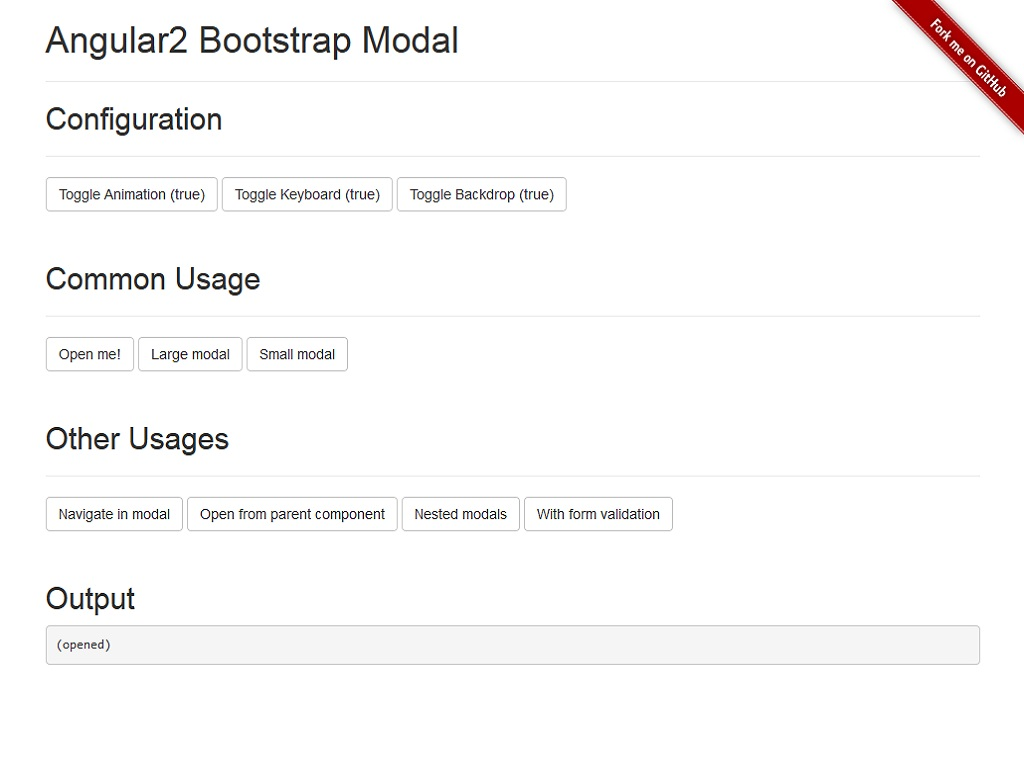 Angular2 Bootstrap 3 Modal