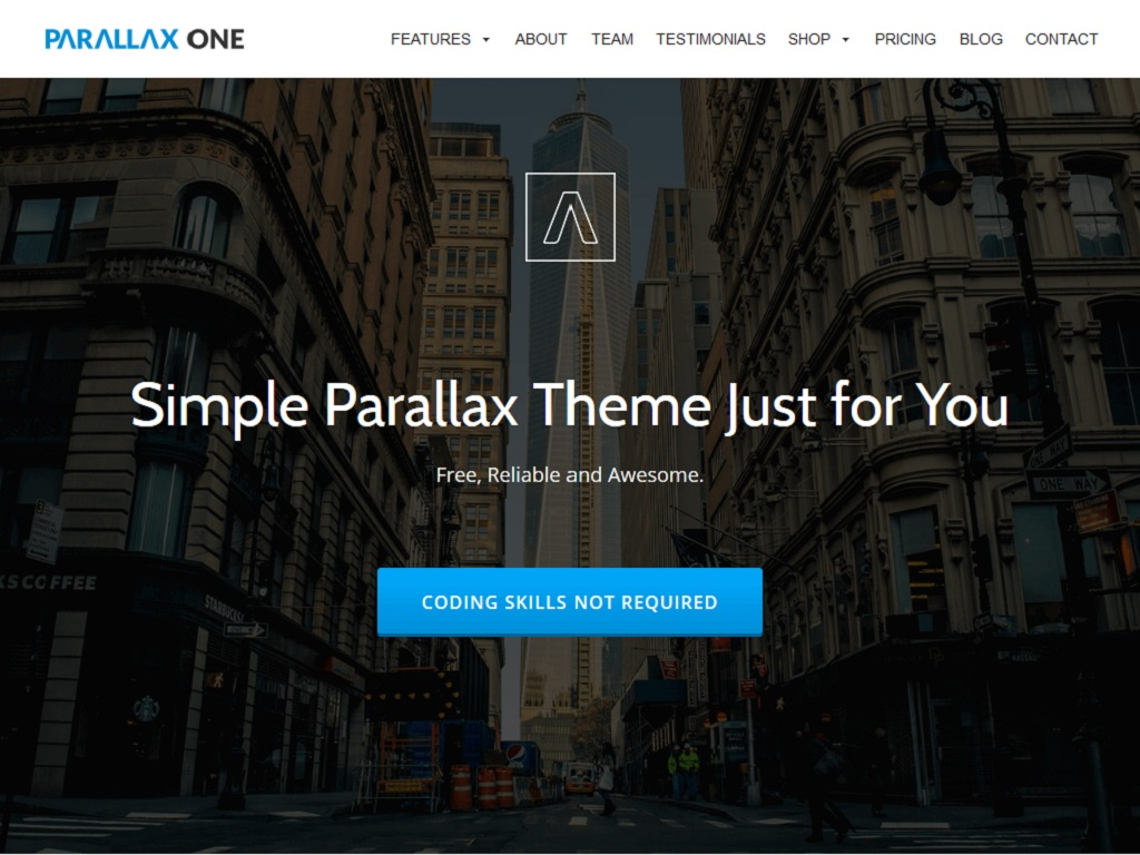 Parallax One - WordPress - Блог