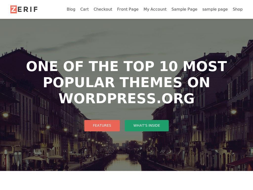 Zerif Lite - WordPress
