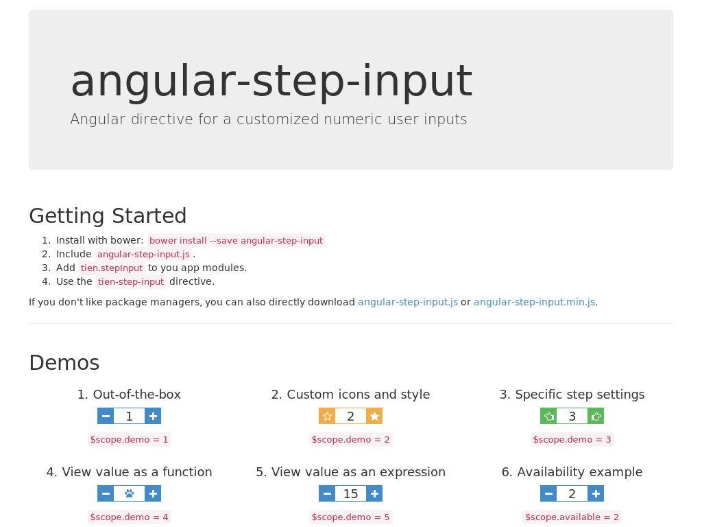 Angular Step Input