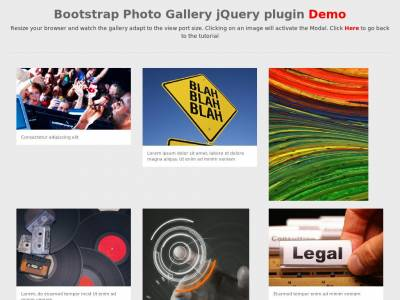 Bootstrap Photo Gallery jQuery