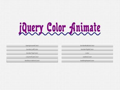 jQuery Color Animate