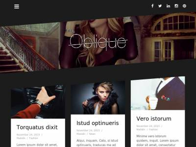 Oblique - WordPress