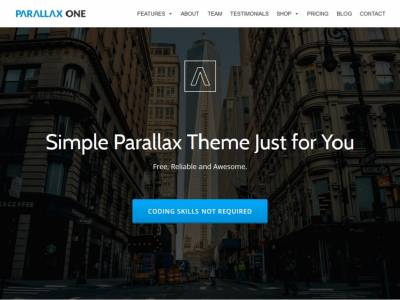 Parallax One - WordPress
