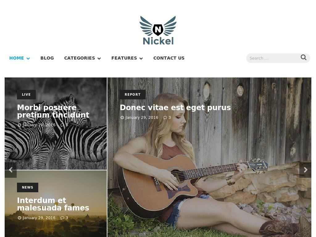 Nickel - WordPress