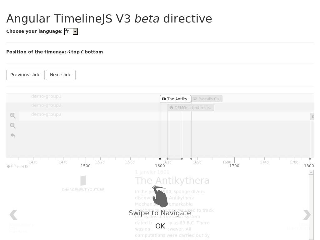 Angular TimelineJS 3