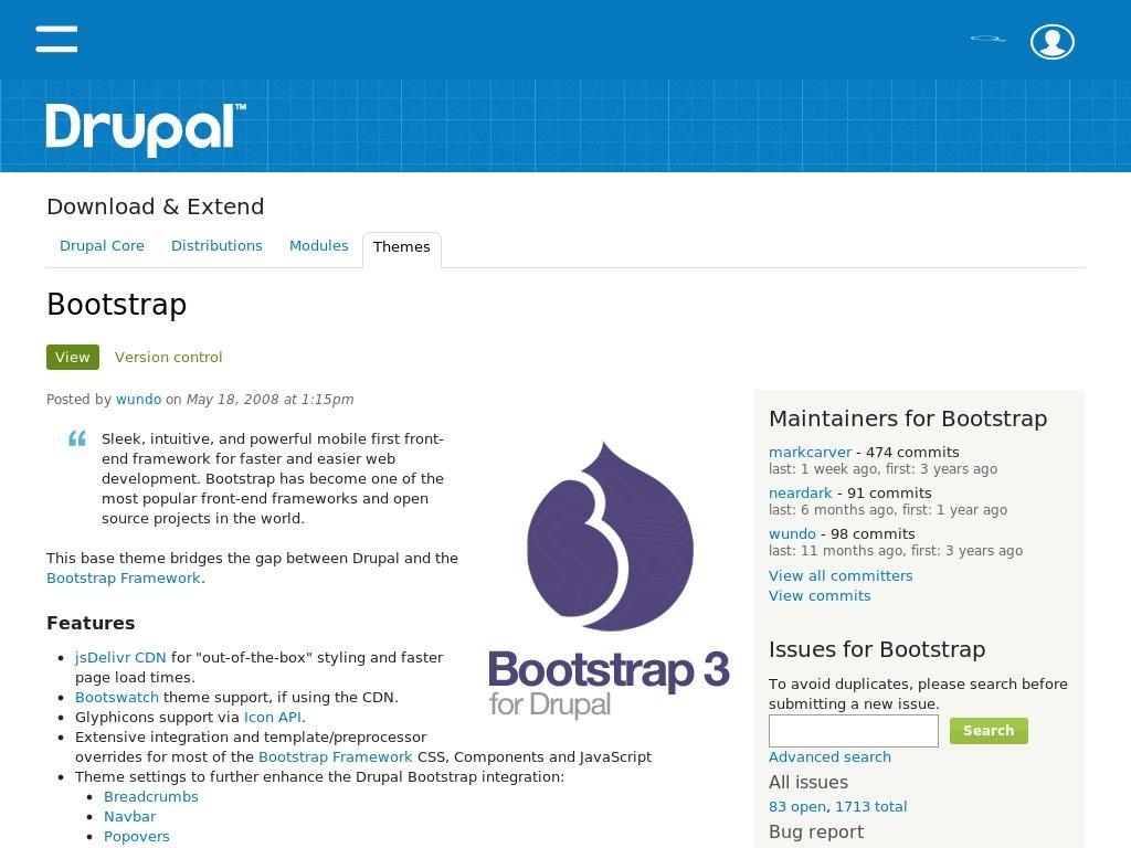Bootstrap 3 for Drupal