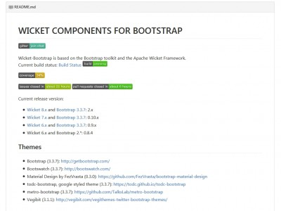 WICKET COMPONENTS FOR BOOTSTRAP