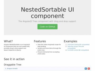 Angular UI NestedSortable