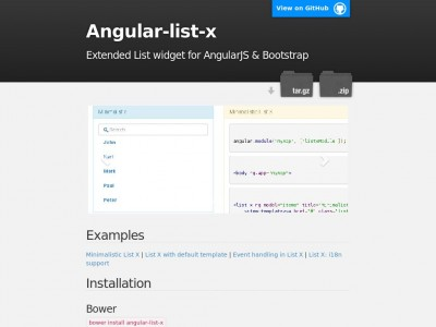 Angular-list-x