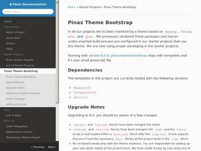 Pinax Theme Bootstrap