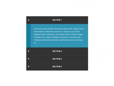 Анимированный аккордион Bootstrap