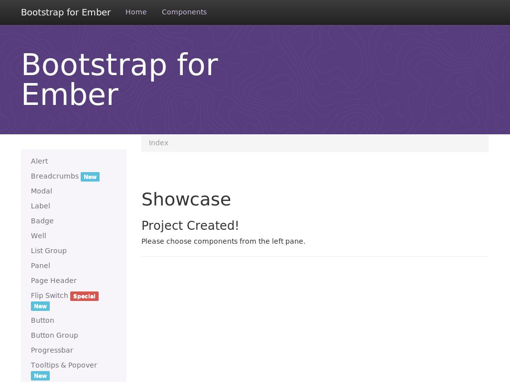 Bootstrap for Ember