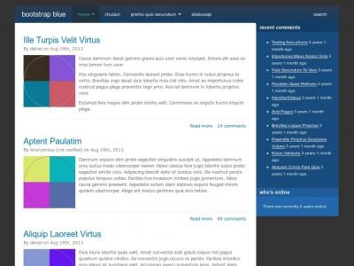 Bootstrap Blue - Drupal