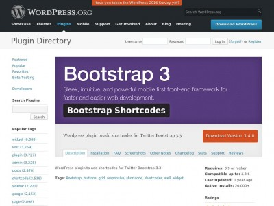 Bootstrap 3 Shortcodes for WordPress