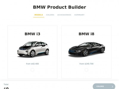 BMW Product Builder