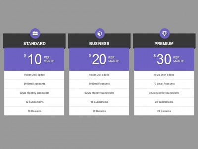 Pricing Table Style Bootstrap