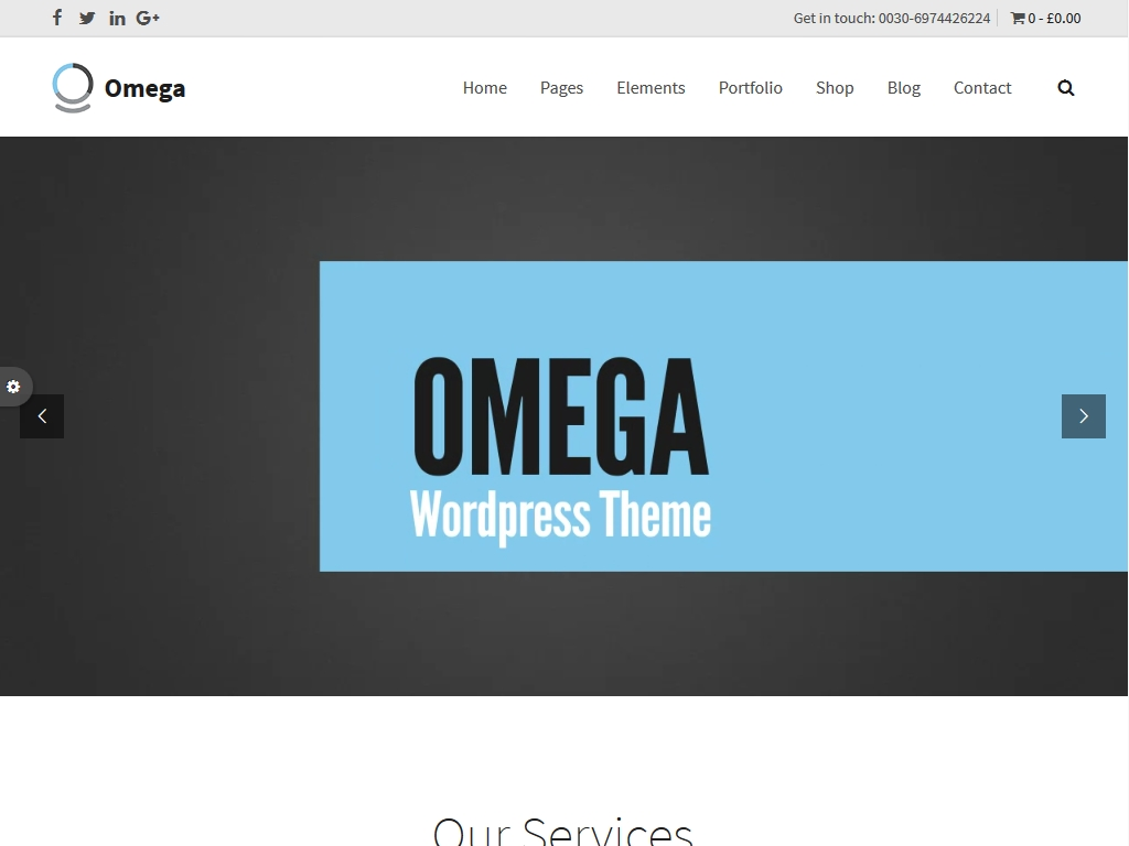 Omega - WordPress