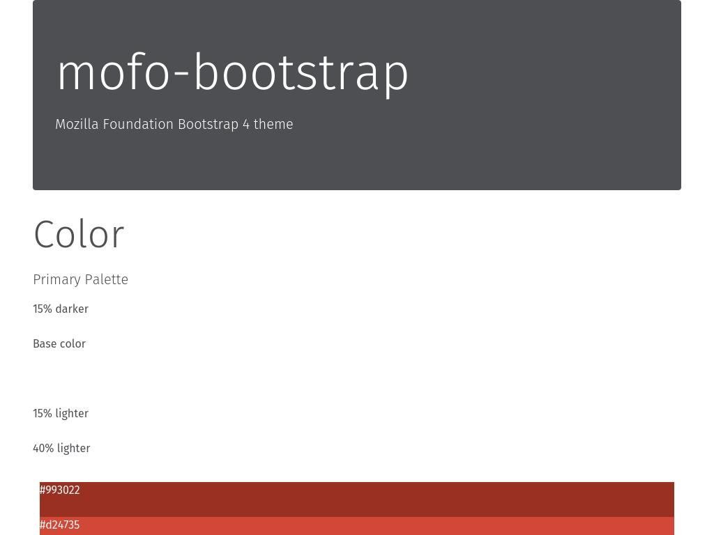 Mozilla Foundation's Bootstrap 4 free theme, download from repository plugin GitHub.