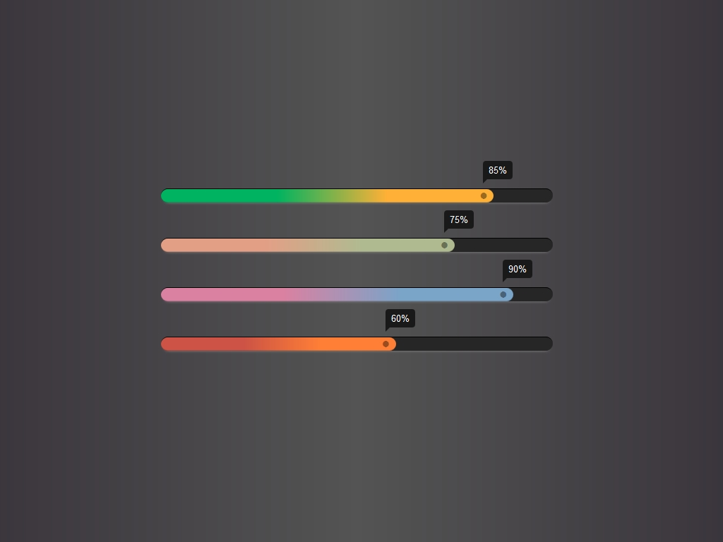 Linear Gradient Progress Bar - Элементы