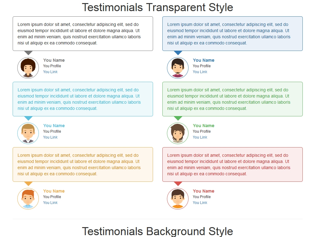Testimonials Color Style