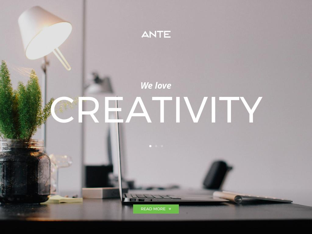 Ante - WordPress - Лендинг