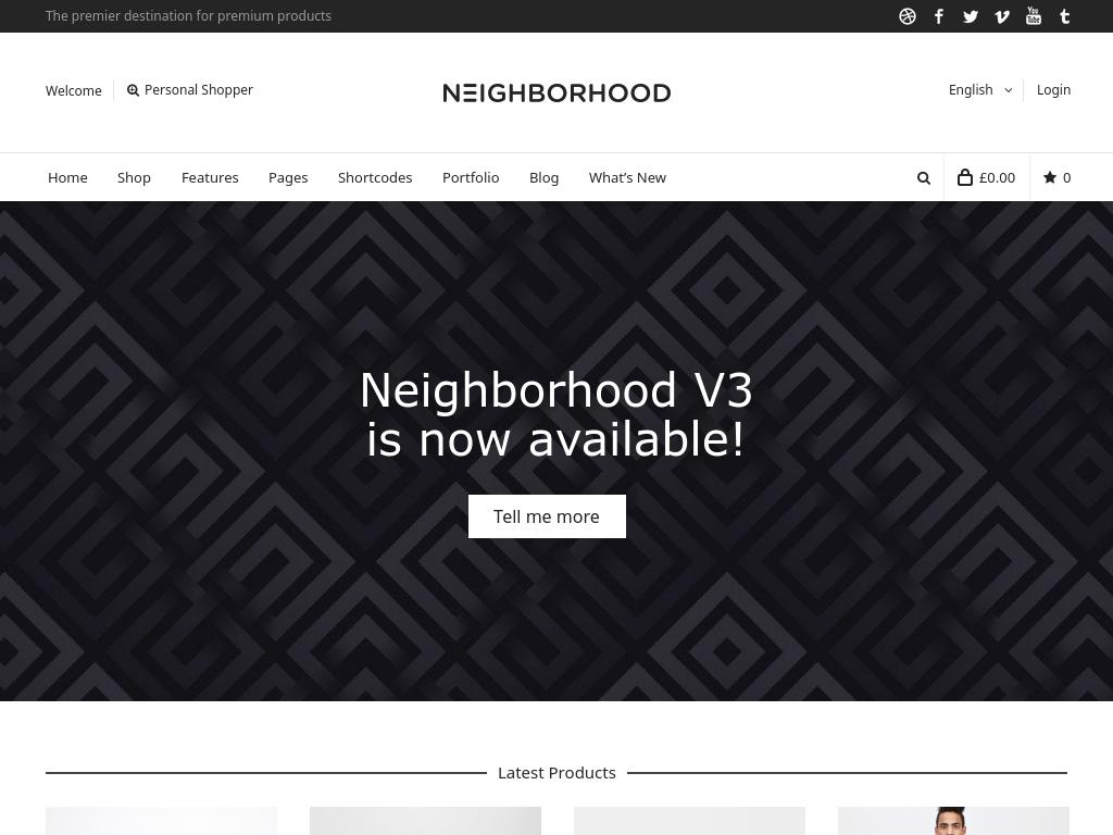Neighborhood - WordPress - Премиум