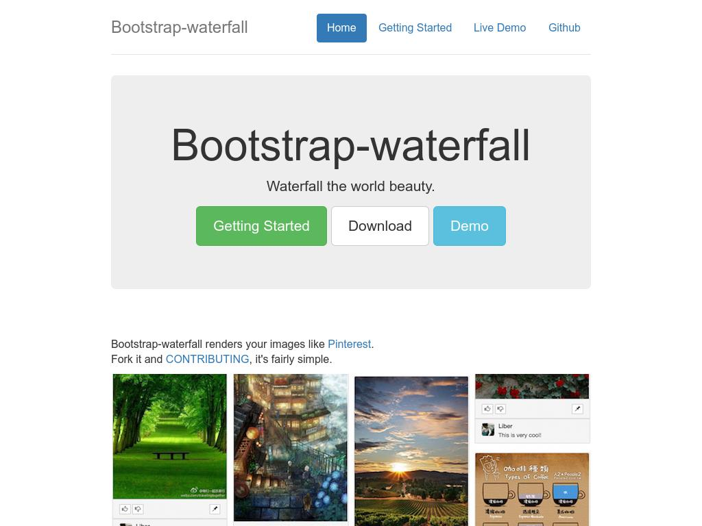 Bootstrap Waterfall - Дизайн