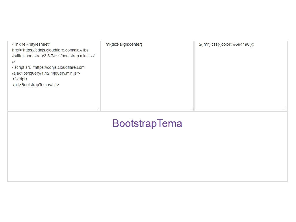 HTML CSS JS Editor Bootstrap