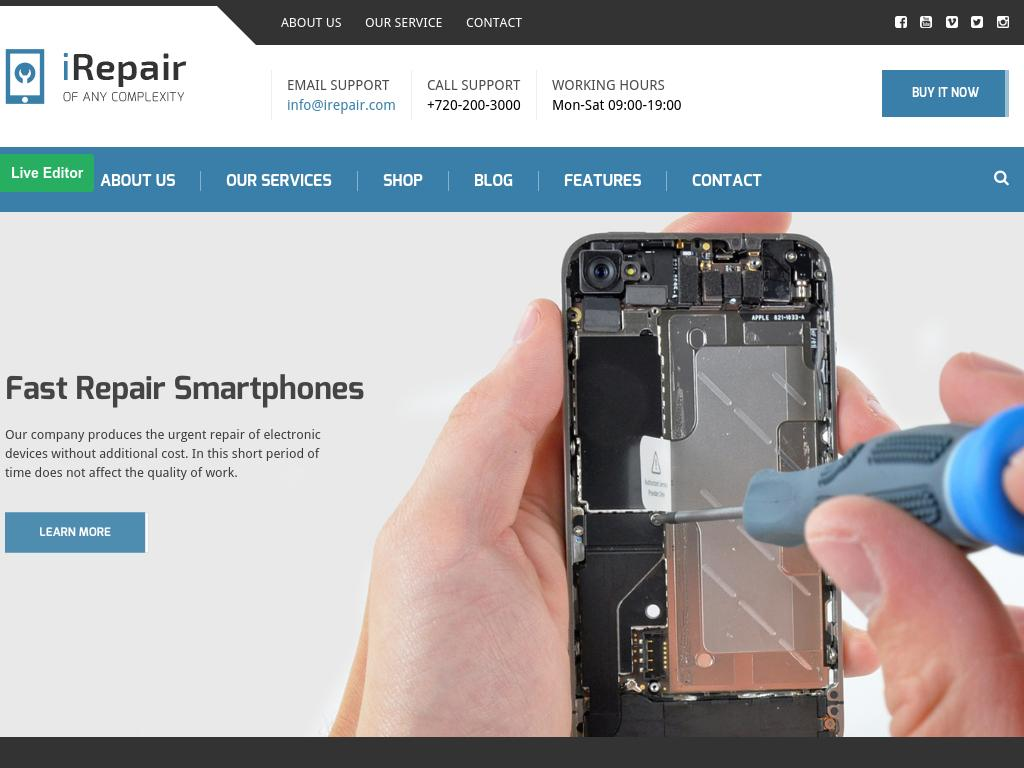 iRepair - WordPress
