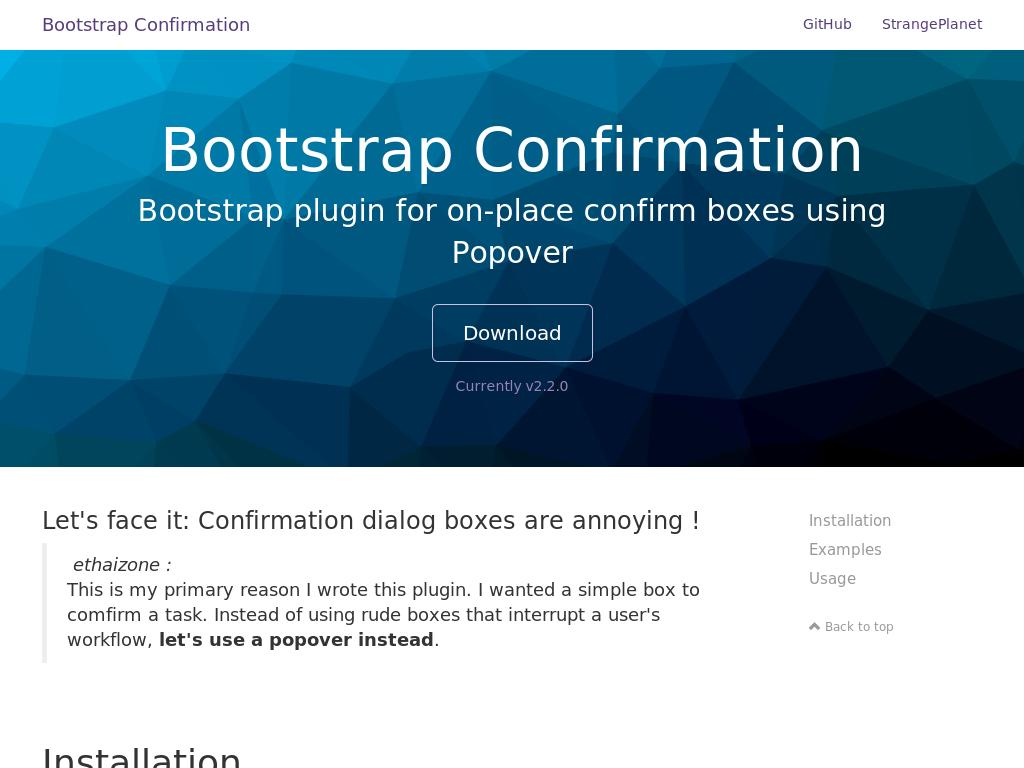 Bootstrap Confirmation - Улучшение