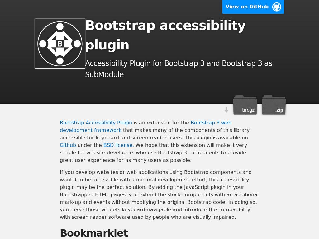 Bootstrap Accessibility Plugin - Улучшение