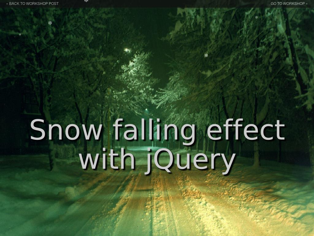 jQuery Snow Falling