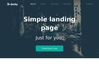 Landing Page Flat