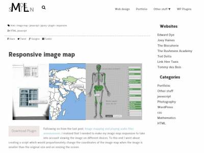 Responsive image map