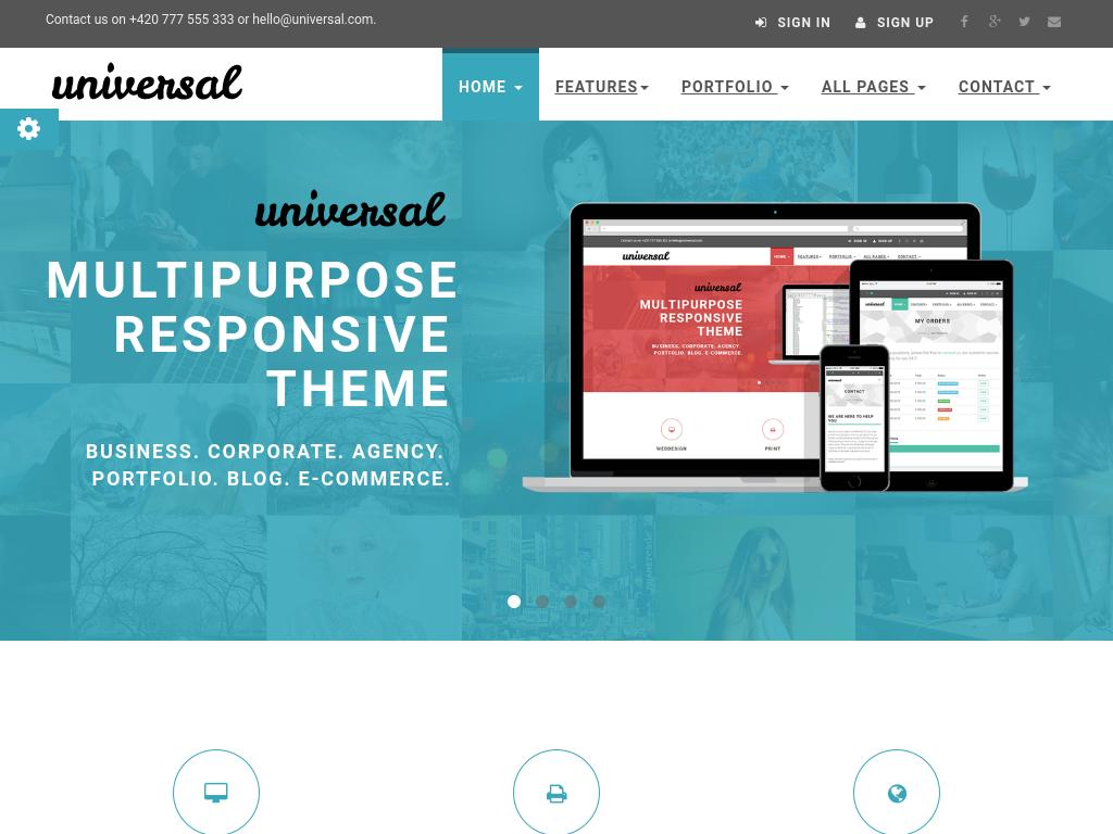 Multipurpose responsive template for website, 45 HTML pages, 11 pages showcasing Bootstrap elements and possible template modifications, free download.