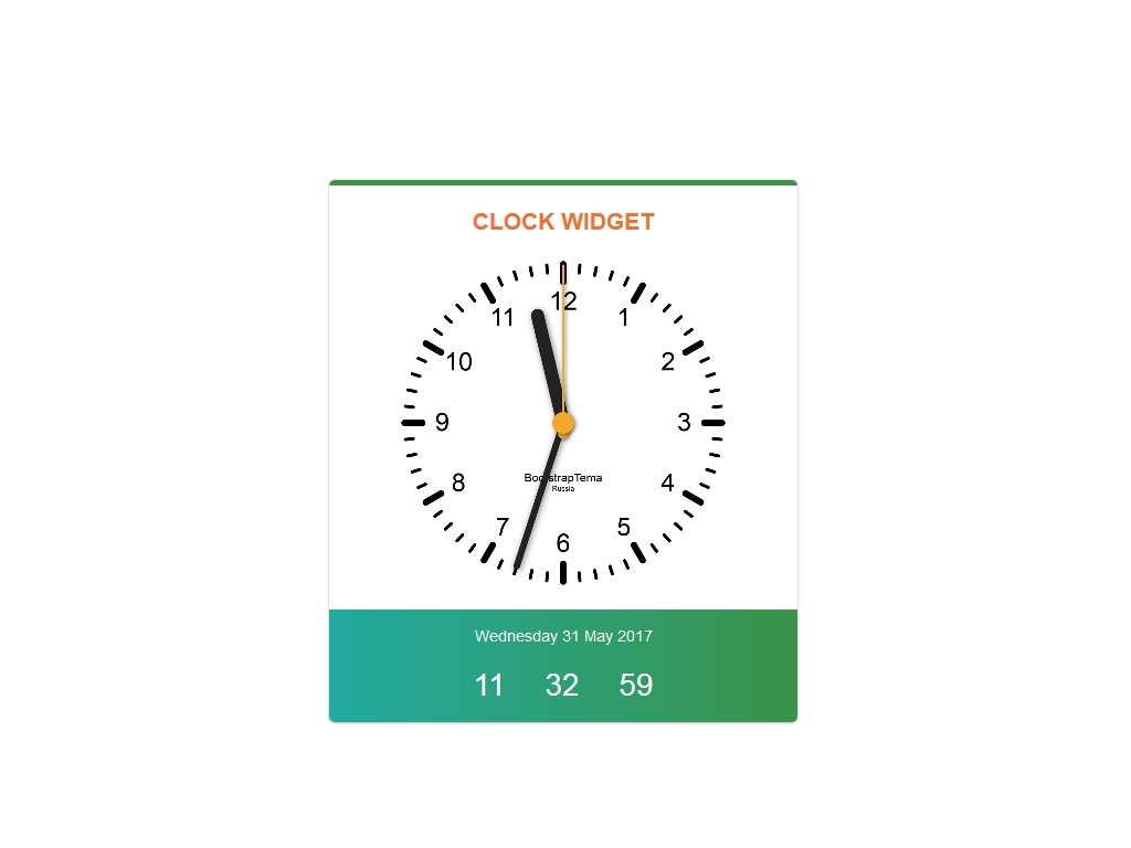 Clock Widget Bootstrap - Часы