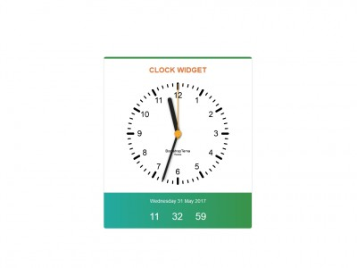Clock Widget Bootstrap