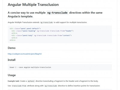 Angular Multiple Transclusion